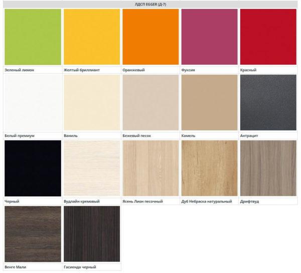 17 цветовых решений для фасадов кухни Симпл из ЛДСП Эггер