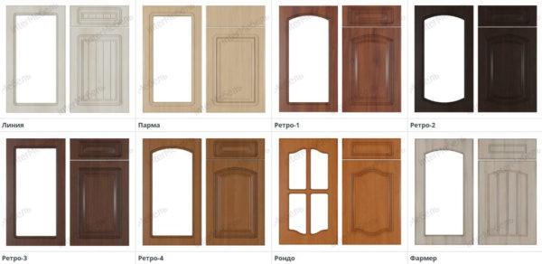 8 вариантов фрезеровки фасадов кухни Симпл из ЛДСП Эггер