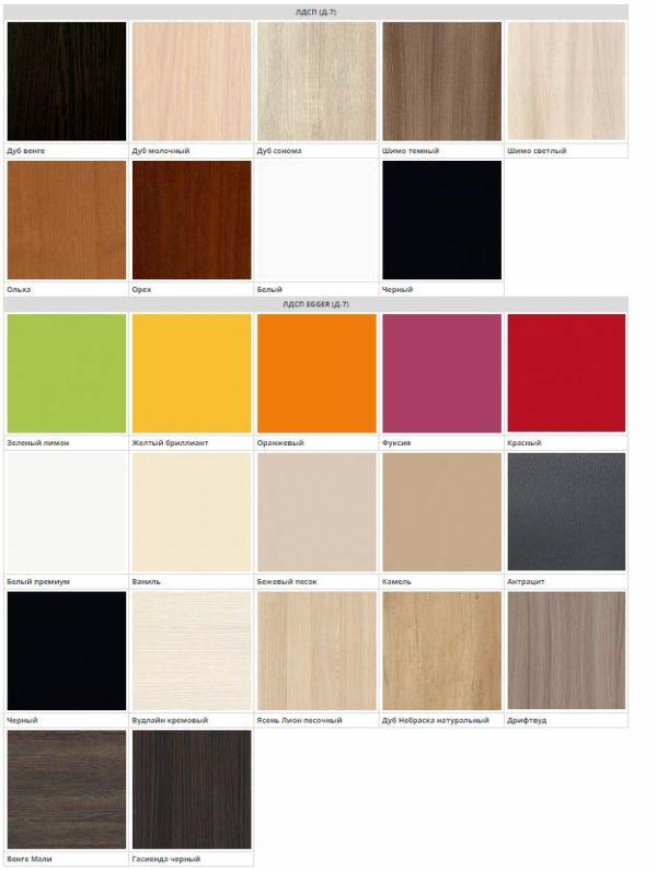 Цвет фасадов кухни Твист ЛДСП
