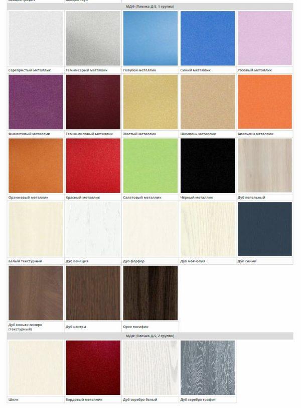 Цвет фасадов кухни Твист МДФ