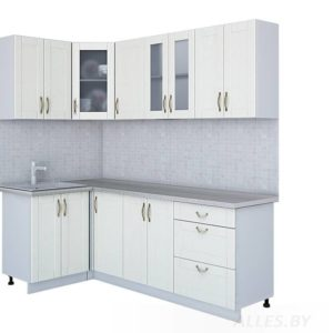 Кухня Мила Крафт МДФ угловая 1,2*2,0 метра дуб полярный