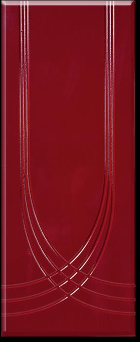 Кухня Оля фасад МДФ арка глянец бордо