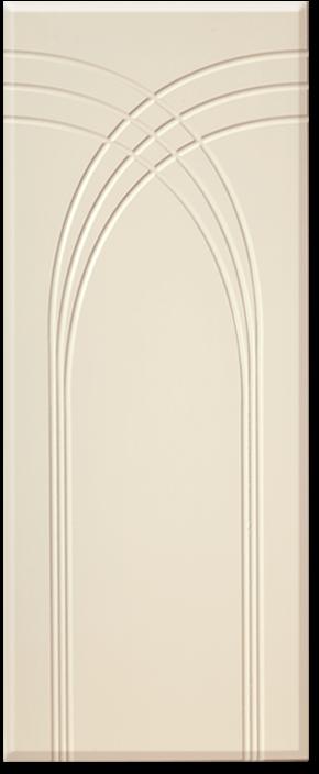 Кухня Оля фасад МДФ арка глянец ваниль