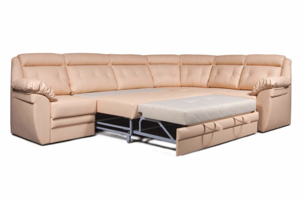 Угловой диван Джерси Премиум 2 в разложенном виде