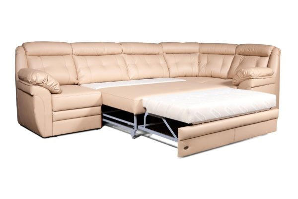 Угловой диван Джерси Премиум в разложенном виде