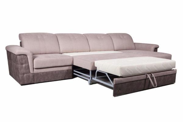 угловой диван Конкорд Премиум в разложенном виде