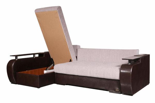 Угловой диван Монреаль с поднятым ящиком