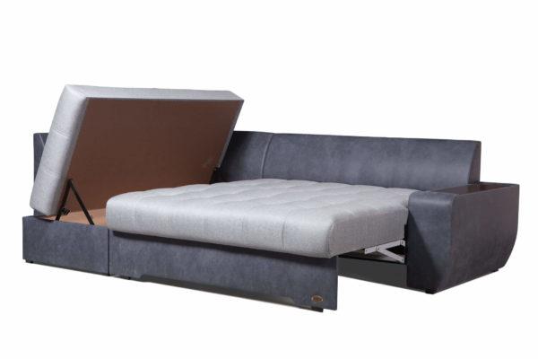 Угловой диван Смарт с поднятым ящиком