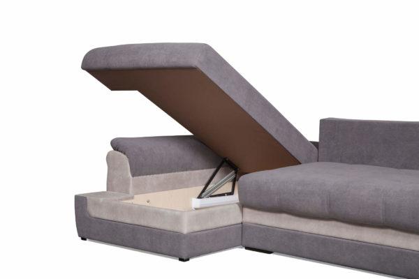 диван угловой Нирвана с разложенным ящиком