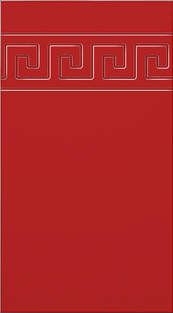Кухня Оля фасад МДФ меандр глянец красный