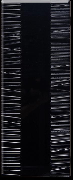 Кухня Оля фасад МДФ соломка боковая черный