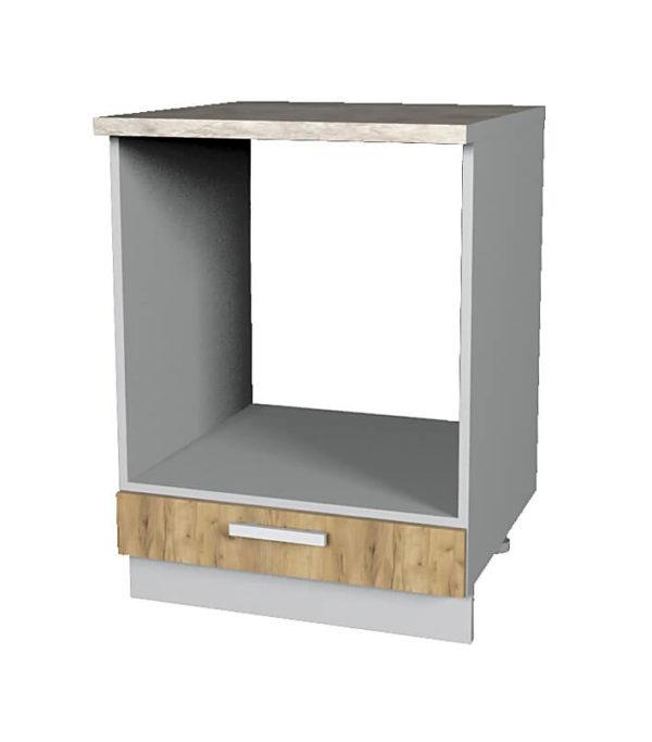 Шкаф для техники НШ60д дуб золотой (модуль)