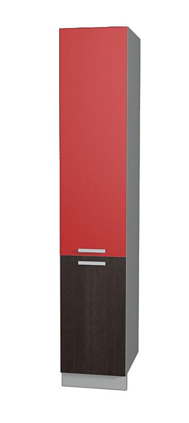 Шкаф пенал НШП №2-2145 красный дуб венге (модуль)