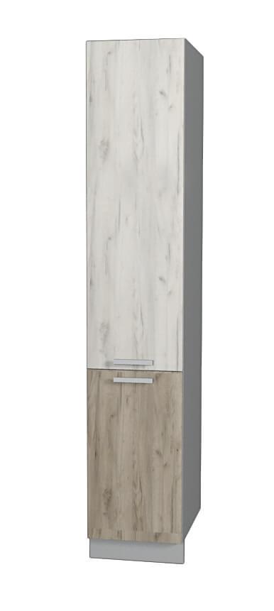 Шкаф пенал НШП №2-2145 дуб молочный дуб венге (модуль)