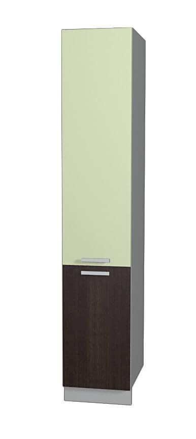 Шкаф пенал НШП №2-2145 салатовый дуб венге (модуль)