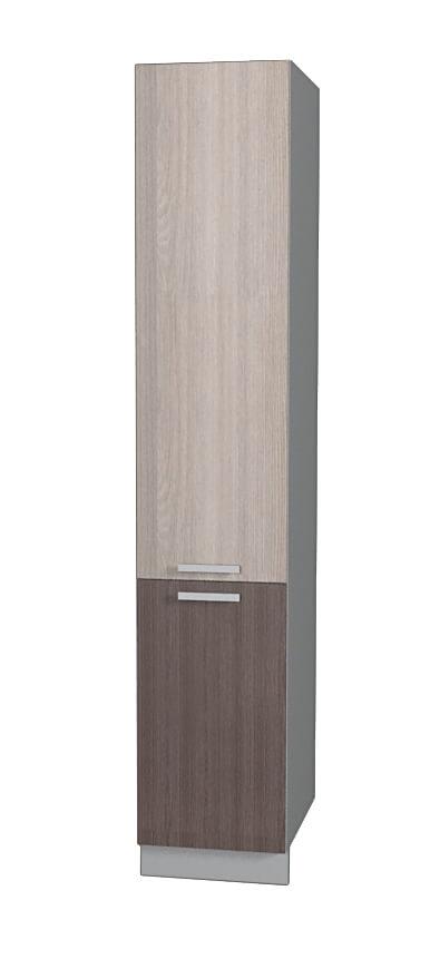 Шкаф пенал НШП №2-2145 ясень светлый ясень темный