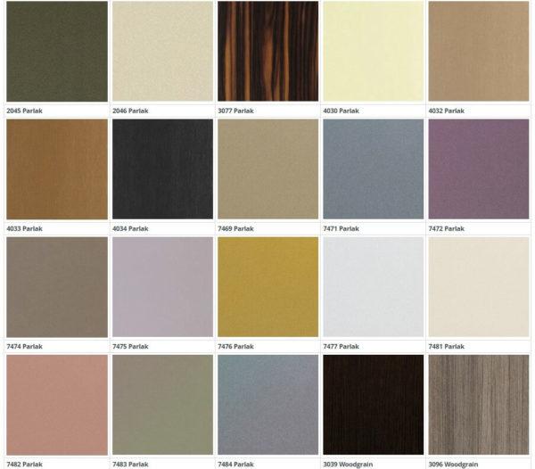 Цвет фасадов из пластика Д-6 2 группа 1 кухня Симпл
