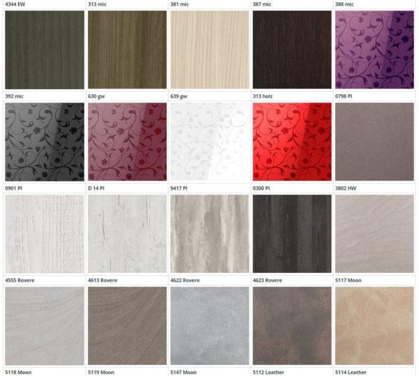 Цвет фасадов из пластика Д-6 3 группа 1 кухня Симпл
