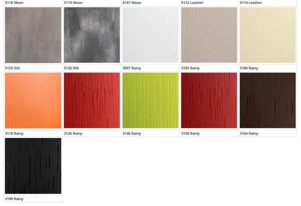 Цвет фасадов из пластика Д-6 3 группа 2 кухня Симпл