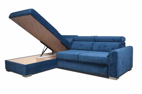диван угловой Нельсон с разложенным ящиком