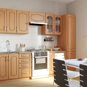 Кухня Симпл 31 МДФ прямая 2,1 метра ольха