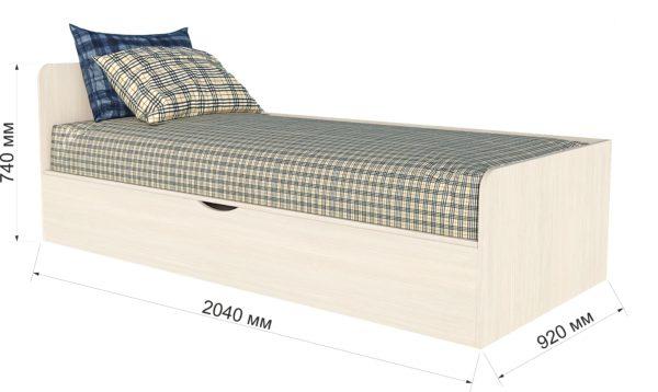 Кровать детская Анеси 3 с подъемным механизмом Вудлайн