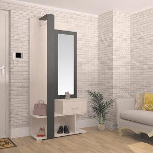 Мебель для прихожей Вита-3 Антрацит-Вудлайн