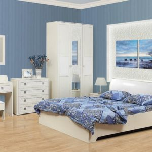 Набор мебели Мона кремовый в интерьере