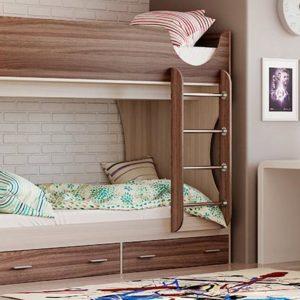 Двухъярусная кровать Д 2 ясень шимо светлый/темный