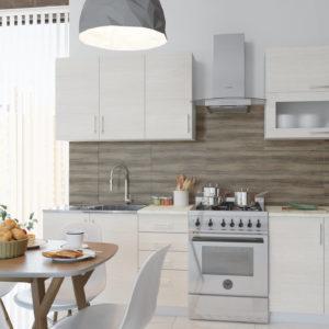 Кухня Симпл 26 ЛДСП Еггер прямая 2,0 метра вудлайн кремовый