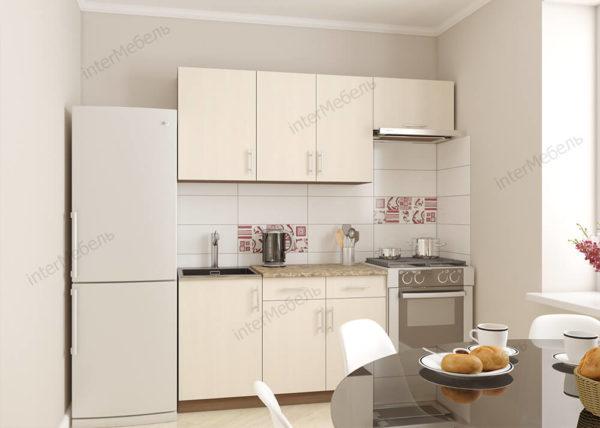 Кухня Симпл 6 из ЛДСП Еггер прямая 1,3 метра ваниль