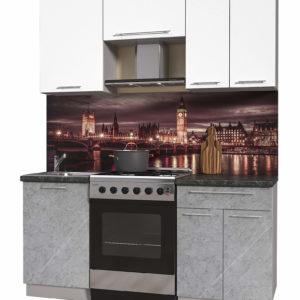 Пластиковая кухня Мила 1,7 метра прямая категория А мрамор белый