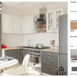 Угловая кухня Бостон МДФ материалы и комплектация