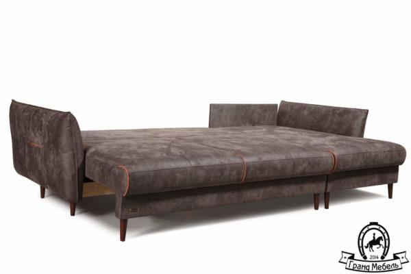 Угловой диван кровать Брауни в разложенном виде