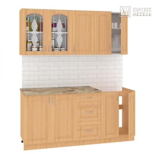 Кухня Корнелия Ретро МДФ прямая 1,8 метра ольха
