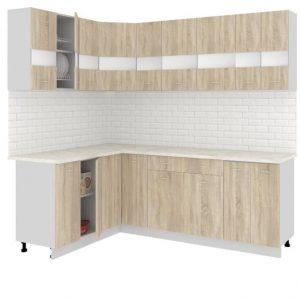 Угловая кухня Корнелия Экстра ЛДСП 1,5 х 2,2 метра дуб сонома