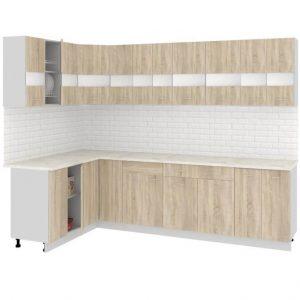 Угловая кухня Корнелия Экстра ЛДСП 1,5 х 2,8 метра дуб сонома