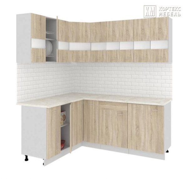 Угловая кухня Корнелия Экстра ЛДСП 1,5 х 2 метра дуб сонома