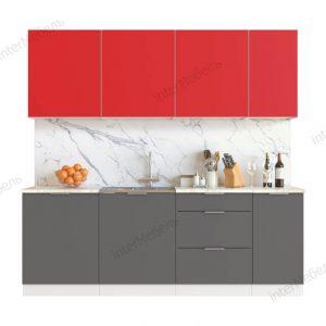 Кухня Mix Top 7 ЛДСП 2,2 метра красный графит серый