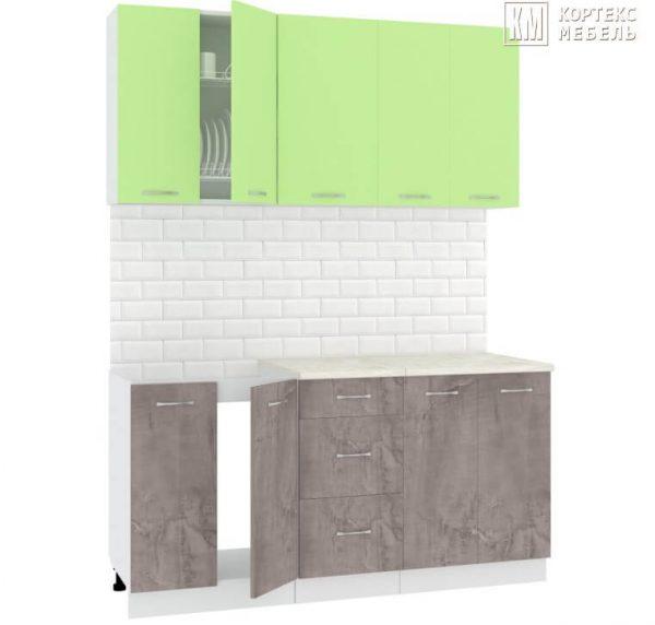 Кухня Корнелия Лира ЛДСП прямая зеленый оникс