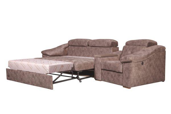 Модульный угловой диван Челси 3 в разложенном виде