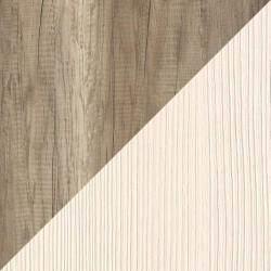 Цвет корпуса фасада дуб каньон вудлайн кремовый для стенки Ника-6