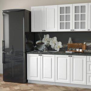 Кухня Мила Деко МДФ тип А прямая 2,0 метра белый в интерьере