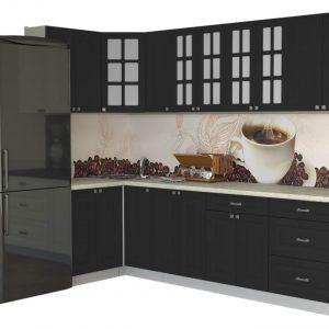 Угловая кухня Мила Деко МДФ 1,2 х 2,7 метра пепел