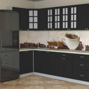 Угловая кухня Мила Деко МДФ 1,2 х 2,7 метра пепел в интерьере